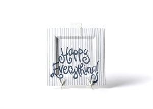 HAPPY EVERYTHING STONE STRIPE BIG SQUARE PLATTER, Happy Everything - A. Dodson's