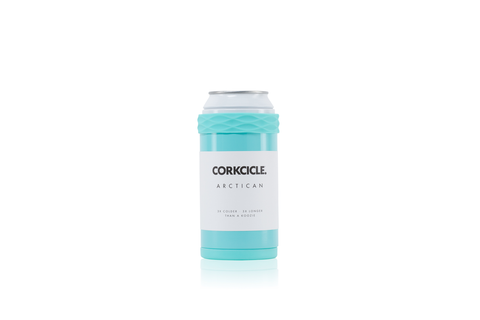 TURQUOISE ARCTICAN BOTTLE/CAN COOLER CORKCICLE