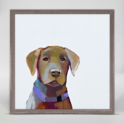 BEST FRIEND - BROWN LAB BY CATHY WALTERS MINI FRAMED CANVAS Greenbox Art Home Fall - A. Dodson's