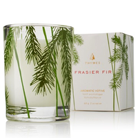 FRASIER FIR VOTIVE CANDLE - PINE NEEDLE DESIGN, Thymes - A. Dodson's