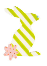 HAPPY EVERYTHING STRIPED RABBIT BIG ATTACHMENT, Happy Everything - A. Dodson's