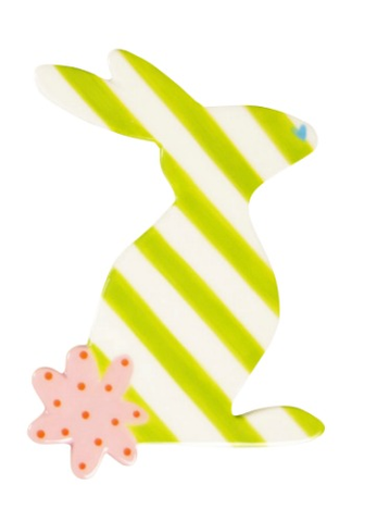 HAPPY EVERYTHING STRIPED RABBIT BIG ATTACHMENT Happy Everything - A. Dodson's