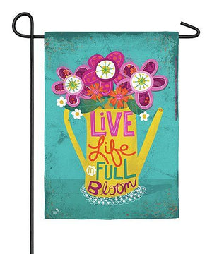 LIVE LIFE IN FULL BLOOM GARDEN SUEDE FLAG