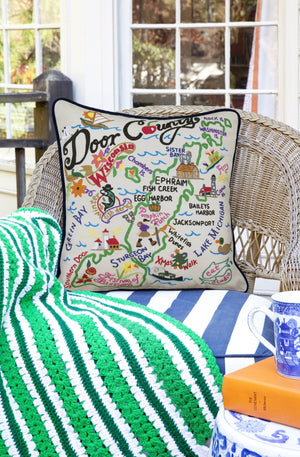 DOOR COUNTY PILLOW BY CATSTUDIO