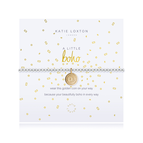 A LITTLE BOHO YELLOW GOLD CHARM STRETCH BRACELET, Katie Loxton - A. Dodson's