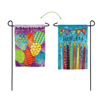 BIRTHDAY CELEBRATION GARDEN SUEDE FLAG