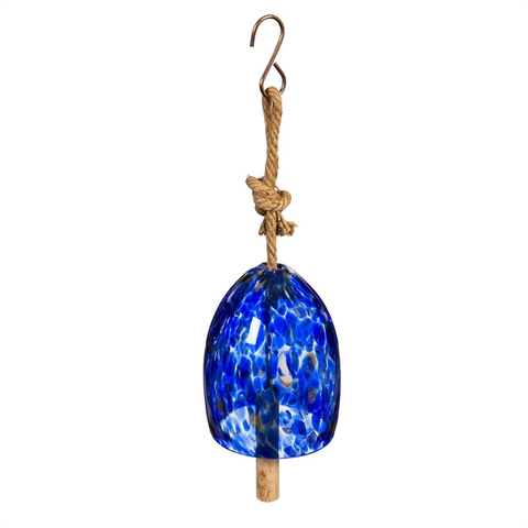 ART GLASS SPECKLE DEEP BLUE BELL CHIME