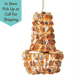 GOLD OYSTER SHELL CHANDELIER Creative Co-op - A. Dodson's