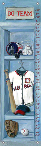 BASEBALL LOCKER BY JONES SEGARRA GROWTH CHART, Greenbox Art - A. Dodson's