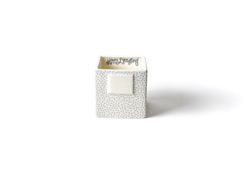 HAPPY EVERYTHING STONE SMALL DOT MINI NESTING CUBE SMALL, Happy Everything - A. Dodson's