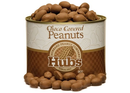 HUBS CHOCOLATE COVERED PEANUTS 20oz, Hubbard Peanuts - A. Dodson's