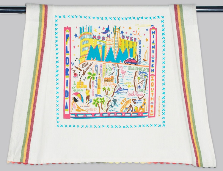 MIAMI DISH TOWEL BY CATSTUDIO, Catstudio - A. Dodson's