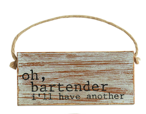 BAR DOOR HANGER by Mud Pie