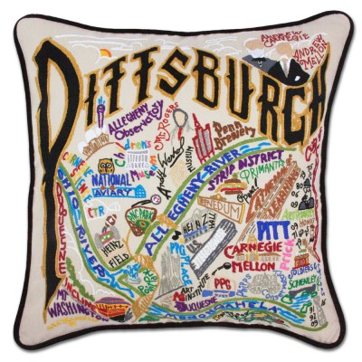 PITTSBURGH PILLOW BY CATSTUDIO
