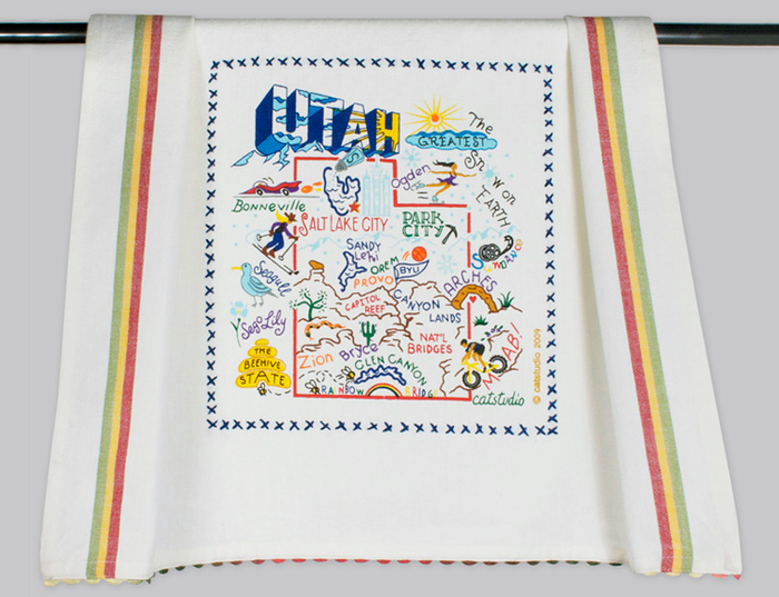 UTAH DISH TOWEL BY CATSTUDIO