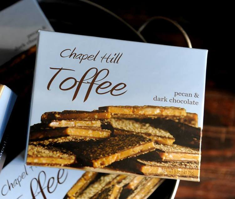 CHAPEL HILL TOFFEE, SMALL BOX Chapel Hill Toffee Home Fall - A. Dodson's