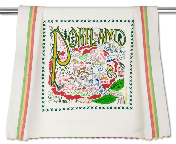 PORTLAND (OR) DISH TOWEL BY CATSTUDIO