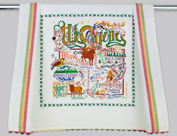 WYOMING DISH TOWEL Catstudio - A. Dodson's