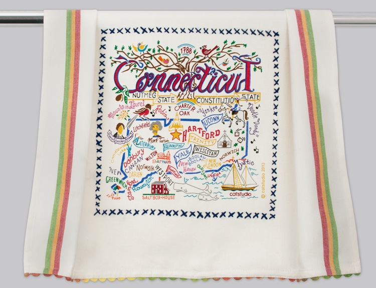 CONNECTICUT DISH TOWEL Catstudio - A. Dodson's