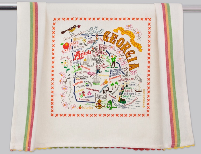 GEORGIA DISH TOWEL BY CATSTUDIO