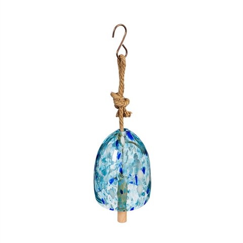 ART GLASS SPECKLE LIGHT BLUE BELL CHIME