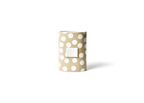 HAPPY EVERYTHING NEUTRAL DOT MINI OVAL VASE