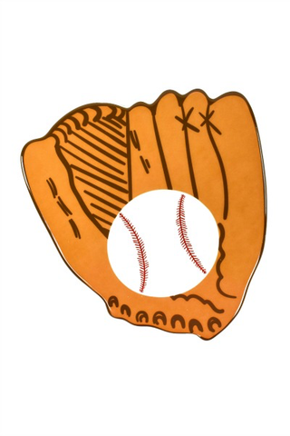 HAPPY EVERYTHING BASEBALL GLOVE MINI ATTACHMENT Happy Everything - A. Dodson's