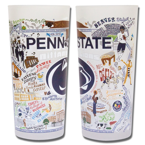 PENN STATE UNIVERSITY GLASS BY CATSTUDIO