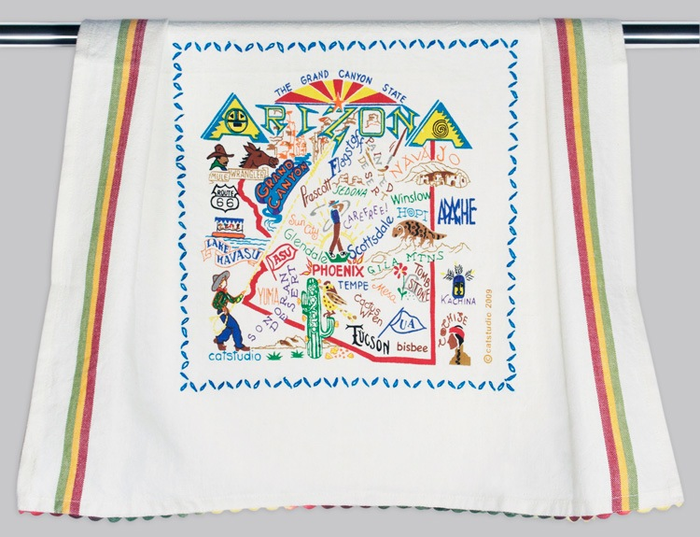 ARIZONA DISH TOWEL BY CATSTUDIO