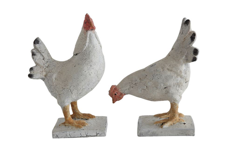 RESIN CHICKEN DECORATION - 2 STYLES printz
