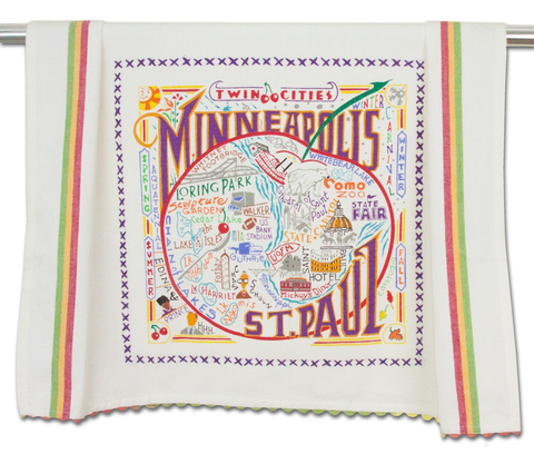 MINNEAPOLIS-ST. PAUL DISH TOWEL BY CATSTUDIO