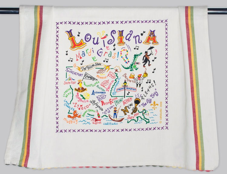 LOUISIANA DISH TOWEL BY CATSTUDIO, Catstudio - A. Dodson's