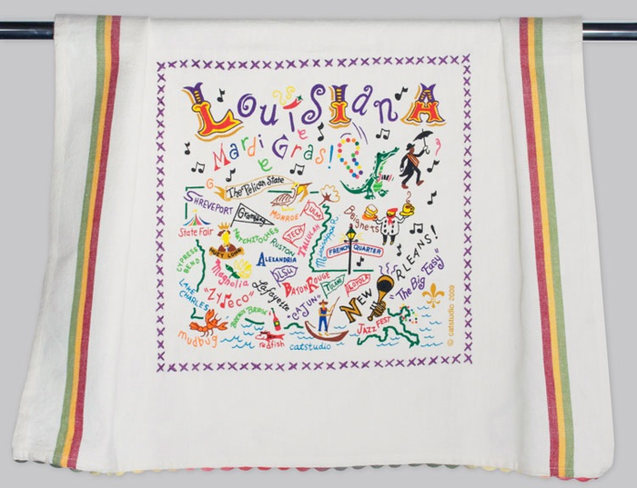 LOUISIANA DISH TOWEL BY CATSTUDIO