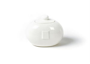 HAPPY EVERYTHING WHITE SMALL DOT MINI COOKIE JAR, Happy Everything - A. Dodson's