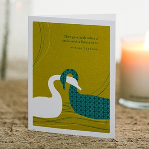 THEY GAVE EACH OTHER A SMILE ANNIVERSARY CARD, Green Greeting by COMPENDIUM - A. Dodson's