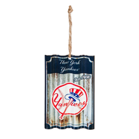 NY YANKEES METAL CORRUGATE ORNAMENT, Evergreen - A. Dodson's