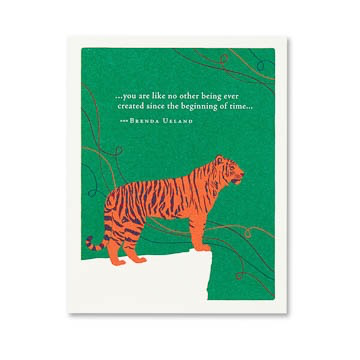 YOU ARE LIKE NO OTHER TIGER BIRTHDAY CARD