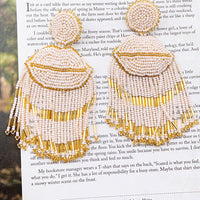 Lip Tassel Nude Earrings