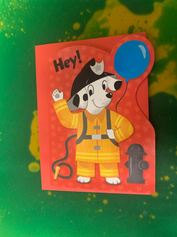 FIRE DOG BIRTHDAY by Peaceable Kingdom