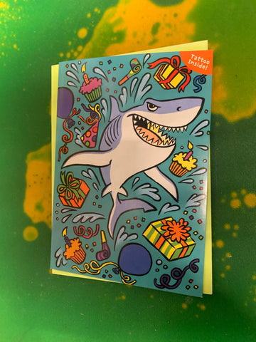 SHARK TATTOO CARD by Peaceable Kingdom