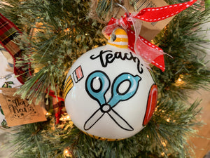 TEACH LOVE INSPIRE BALL ORNAMENT
