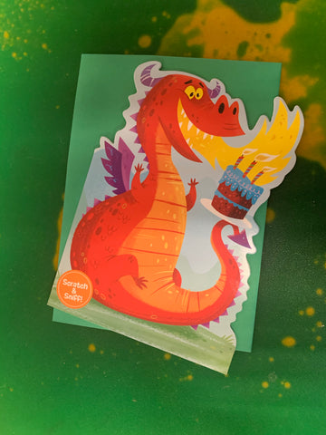 FIRE BREATHING DRAGON SCRATCH AND SNIFF by Peaceable Kingdom
