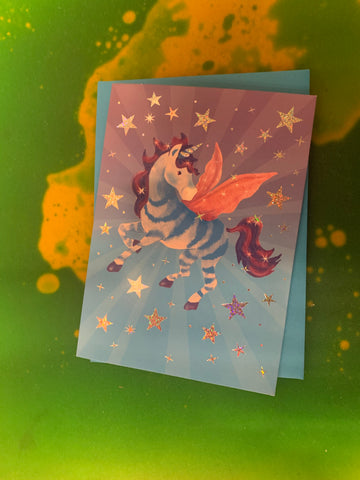 STARRY PEGASUS FOIL CARD by Peaceable Kingdom