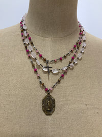 CELESTE WILD BERRY QUARTZ NECKLACE
