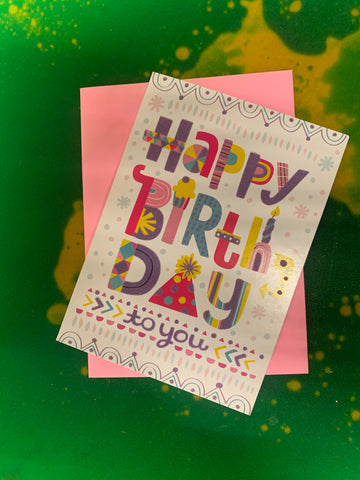 HAPPY BIRTHDAY LETTERING F by Peaceable Kingdom