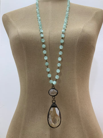 BLUEBELL AQUAMARINE NECKLACE