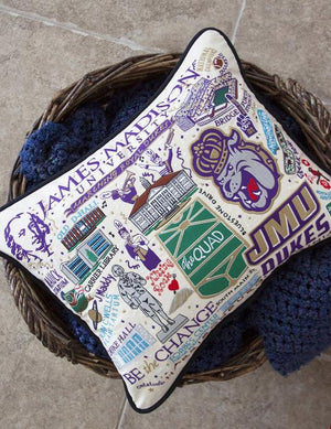 JAMES MADISON UNIVERSITY PILLOW BY CATSTUDIO