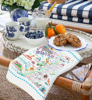 JERSEY SHORE DISH TOWEL BY CATSTUDIO
