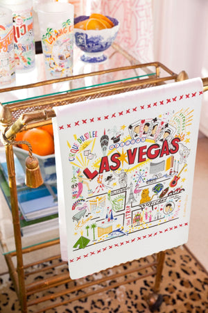 LAS VEGAS DISH TOWEL BY CATSTUDIO