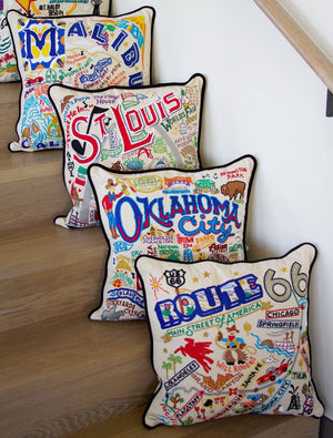OKLAHOMA CITY PILLOW BY CATSTUDIO